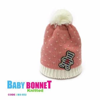 Knitted Bonnet for Babies in cute design pink color perfect for travel Price Philippines