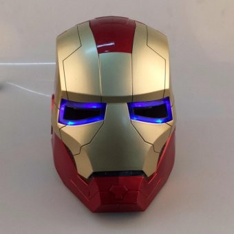 IRON MAN iron man Helmet Mask can open eyes can shine CHAMPAGNE / gold optional - intl Price Philippines