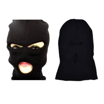 3 Hole Face Mask Ski Mask Winter Cap Balaclava Hood Army Tactical Mask - intl Price Philippines