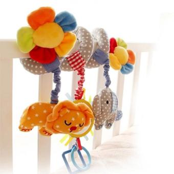 Harga Elephant And Lion Hanging Toy Baby Crib Toys - intl