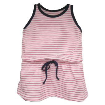 Kid Basix White Dress with Pink Stripes & Navy Details (Pink) Price Philippines
