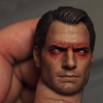 1/6 Scale Superman VS Batman Superman 2.0 HeadSculpt Red Eye Rage Version - intl Price Philippines