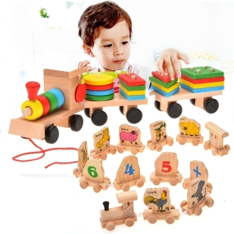 Wooden Education Toy Stacking Train For Kids Type 3(Multicolor) Price Philippines