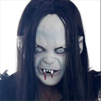 Scary Long Hair Halloween Masks Ghost Full Face Mask for Adult! Price Philippines