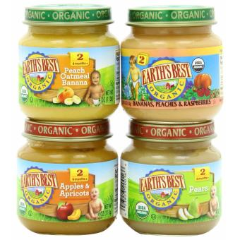 Harga Earth's Best Organic Baby Food Assorted Fruits Variety Pack (4 Jars)