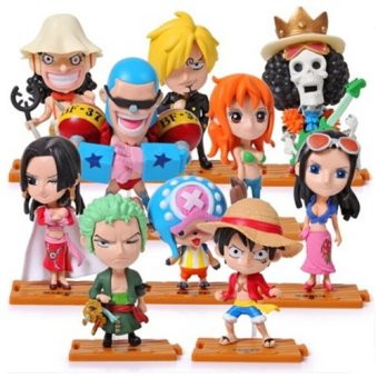 One Piece Set of 10 Pieces Chibi Action Figure New World Price Philippines