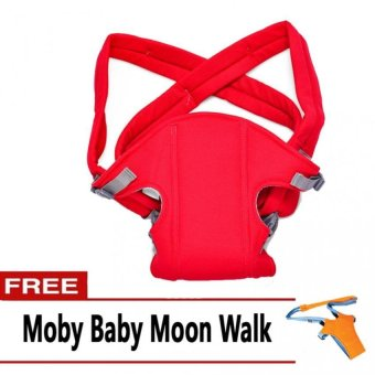 Baby Carrier (Red) with FREE Moby Baby Moon Walk Price Philippines