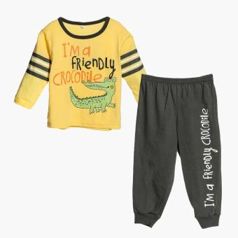 Nap Boys Friendly Crocodile Pajama Set (Yellow) Price Philippines