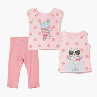 Nap Girls I'm One Cool Cat Pajama Set (Pink) Price Philippines