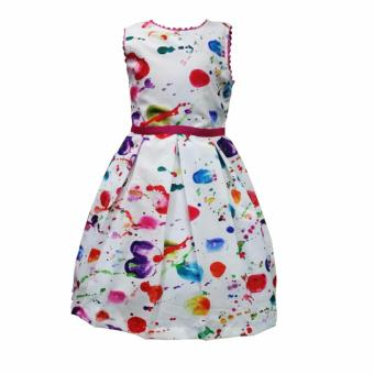 Harga Rare Collection Maria Kids Party Dress (Multicolor)