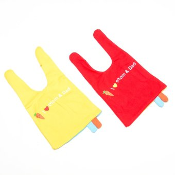 I Love Mom and Dad Bonnet set of 2 - Yellow and Red Price Philippines