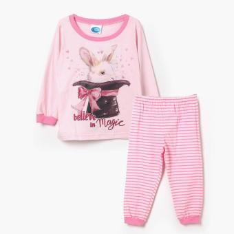 Nap Girls Believe in Magic Long Sleeved Shirt and Pajama Set (Pink) Price Philippines