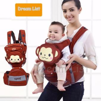 New 2017 Best Quality Mambo baby Multi functional 4-in-1 Baby Carrier with Hip Seat cartoon baby backpack (monkey design) Price Philippines