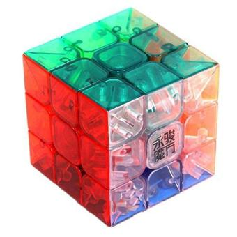 Harga 3x3x3 YJ Yulong Transparent Color Stickerless Cube puzzle Moyu - intl