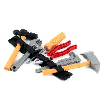 Harga OH Worth Plastic Building Tool Kits Set Builders Kids DIY Construction Toy Gift