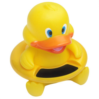 landor Yellow Duck Safety Baby Bath Floating Toy and Water Temperature Thermometer Sensor Tool - intl Price Philippines