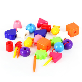 Harga 24pcs Intelligent Colorful Beads Educational Toys For Baby Boys Girls