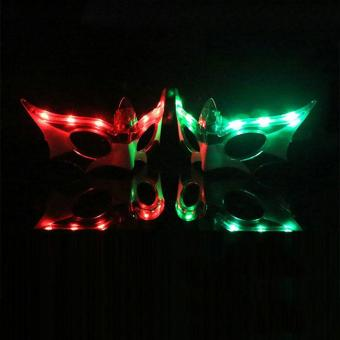 LED Light Up Flashing Glasses Mask Masks for Party Club Masquerade Toys Friends - intl Price Philippines