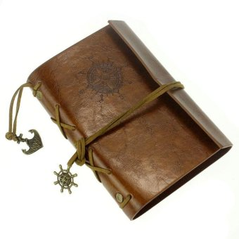 Harga Vintage Leather Cover Notebook Journal Diary Blank String Nautical BW - intl