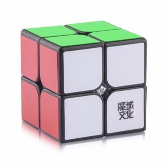 Harga Rubik's MoYu Weipo Magic Cube Rubik's Cube Brain Teasers Speed 2x2 Puzzles Black Body YJ8239