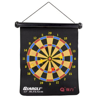 Harga QUIANGLI 38x32 cm Roll Over Magnetic Dartboard Bullseye Traditional Target