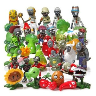 40Pcs/Set Plants vs Zombies Toy 3-7cm PVZ Collection Plant ZombineFigure Toys Gift - intl Price Philippines