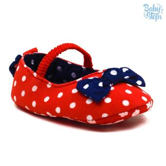 Baby Steps Polka Garter Ribbons Baby Girl Shoes (Red) Price Philippines
