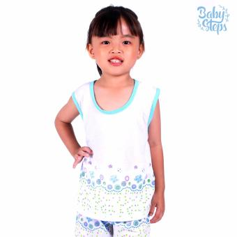 Baby Steps Basic Wear Paradise Baby Girl Terno Clothing Sets (Blue) Price Philippines