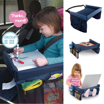 PopSky Kids Snack & Play Travel Tray Car Seat Portable Play Food Tray Storage Buggy Pushchair Lap Adjustable - intl Price Philippines