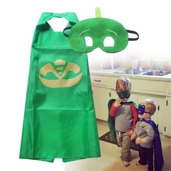 LALANG Children Masks Role-play Cloak Cape and Mask Catboy Cosplay Action Toys (Green) - intl Price Philippines