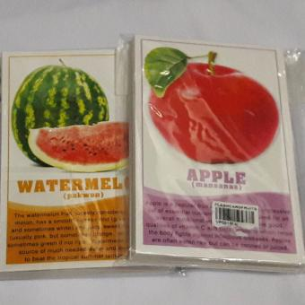 Flash cards for Kids Early Learning Different Fruits 30 kinds and it vitamins and Nutrients Price Philippines