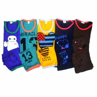 Harga MC Top and Shorts Unisex 5pack/Set Assorted Design and Colors XL28