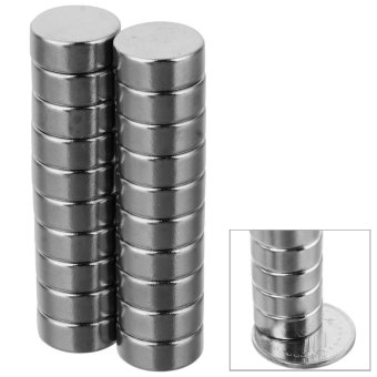 Harga D12 * 6mm Cylindrical Strong NdFeB Magnet - Silver (20 PCS) - intl