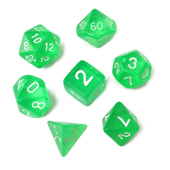 7-Dice Sided D4 D6 D8 D10 D12 D20 Magic-the-Gathering MTG D&D RPG Poly Game Set Green Price Philippines