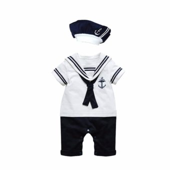 Cool Elves Nautical Sailor Romper - White Price Philippines