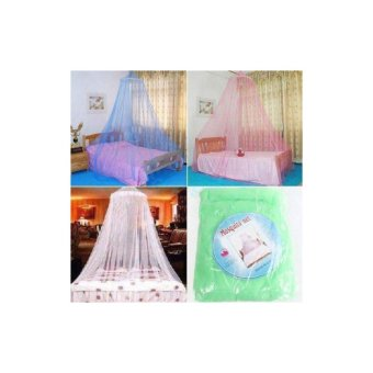 Mosquito Round Lace Curtain Dome for Babies Protection in Pink Color Price Philippines
