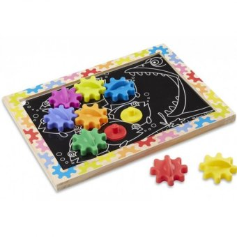 Harga MELISSA & DOUG Motor Skills - Switch & Spin Magnetic Gear Board
