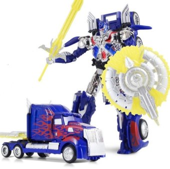 Harga Transformations Robot Car Action Figures Toys Brinquedos Optimus Prime Model Juguetes Class Boys Birthday Gift 16