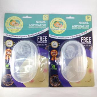 Harga Orange and Peach Nasal Aspirator (White/Blue) pack of 2
