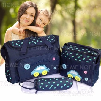 Tickle TMN- 002 4-in-1 Multi-function Baby Diaper Tote Handbag Set (Dark Blue) Price Philippines