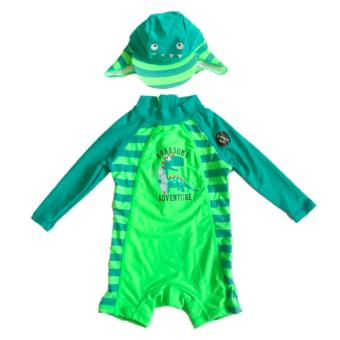 Little Rebels Longsleeves Rash Guard Swim Set with Sun Hat Price Philippines