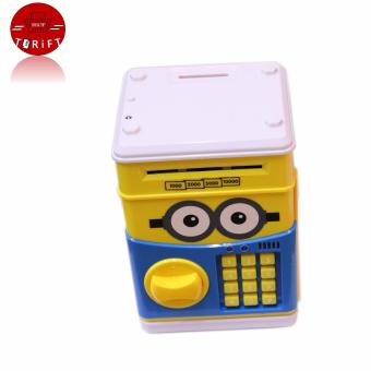 Harga SHOP AND THRIFT Mini Cartoon Personal Money Saving Box Cash Coin Storage Can Security ATM Bank Cute Minion Kids Gift
