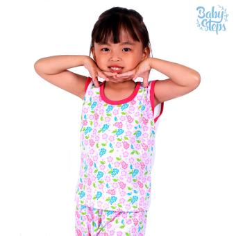 Baby Steps Basic Wear Floral Leaf Baby Girl Terno Clothing Sets (Multicolor) Price Philippines