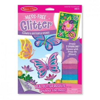 Harga MELISSA AND DOUG Mess Free Glitter Flower and Butterfly Scenes