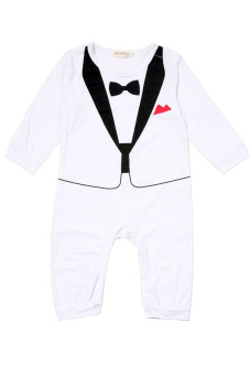 Harga Baby Boy Romper Suits (White)