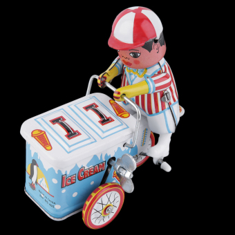 Allwin Vintage Metal Tin Ice Cream Car Clockwork Wind Up Tin Toy Collectible Price Philippines
