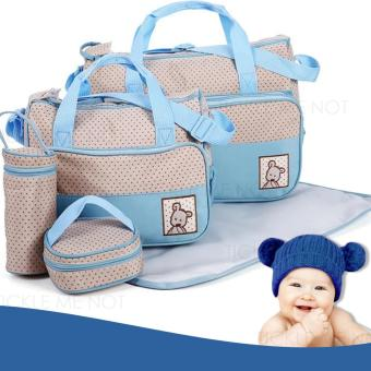 Tickle TMN- 125 5-in-1 Multi-function Baby Diaper Tote Handbag Set (Light Blue) Price Philippines