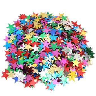 Harga Muilt Color Sparkle Heart Star Confetti Paper Wedding Table Decoration DIY Craft Mini Stars - intl