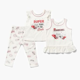 Nap Girls Super Ready for Bed Pajama Set (White) Price Philippines