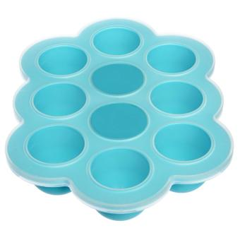 Harga Silicone Baby Food Freezer Tray with Clip-on Lid- Perfect Storage Container for Homemade Baby Food, Vegetable & Fruit Purees and Breast Milk - BPA Free & FDA Approved -Lifetime Guarantee - intl